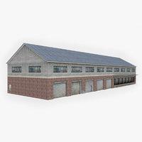 3D model industrial building 12