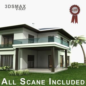 villa 2 3D model