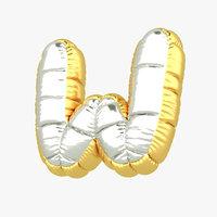 3D w balloon letter model