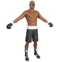 boxer man 3D model