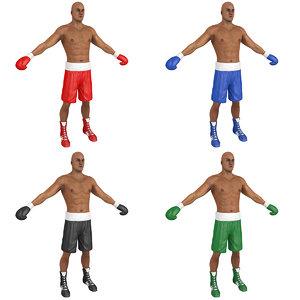 pack boxer man 3D