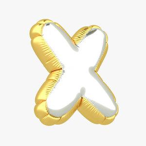 x balloon letter 3D model