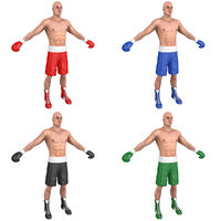 pack boxer man 3D model