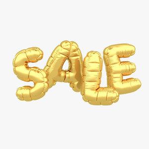 3D sale balloon model
