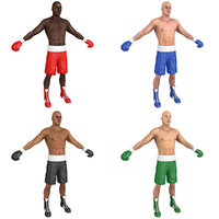 3D pack boxer world man