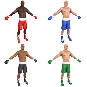 3D pack boxer world man