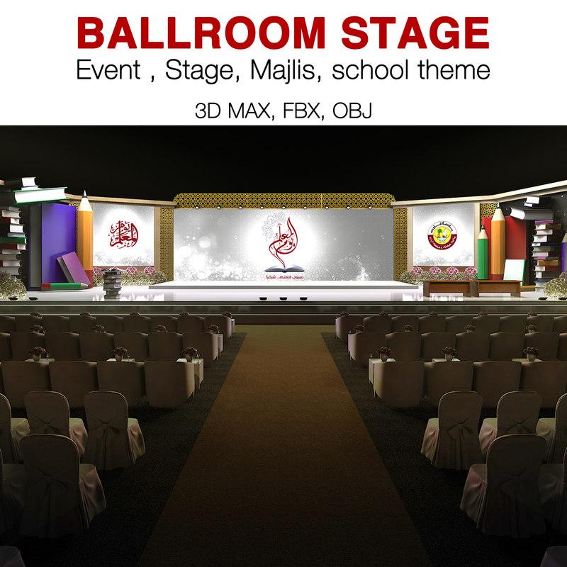 3D ballroom stage