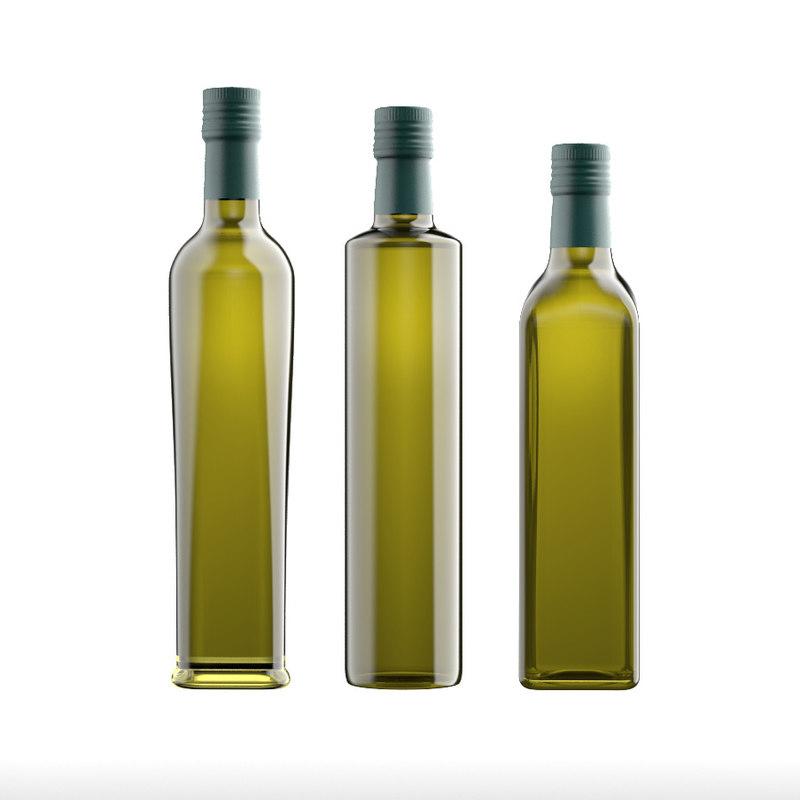 bottles olive oil model