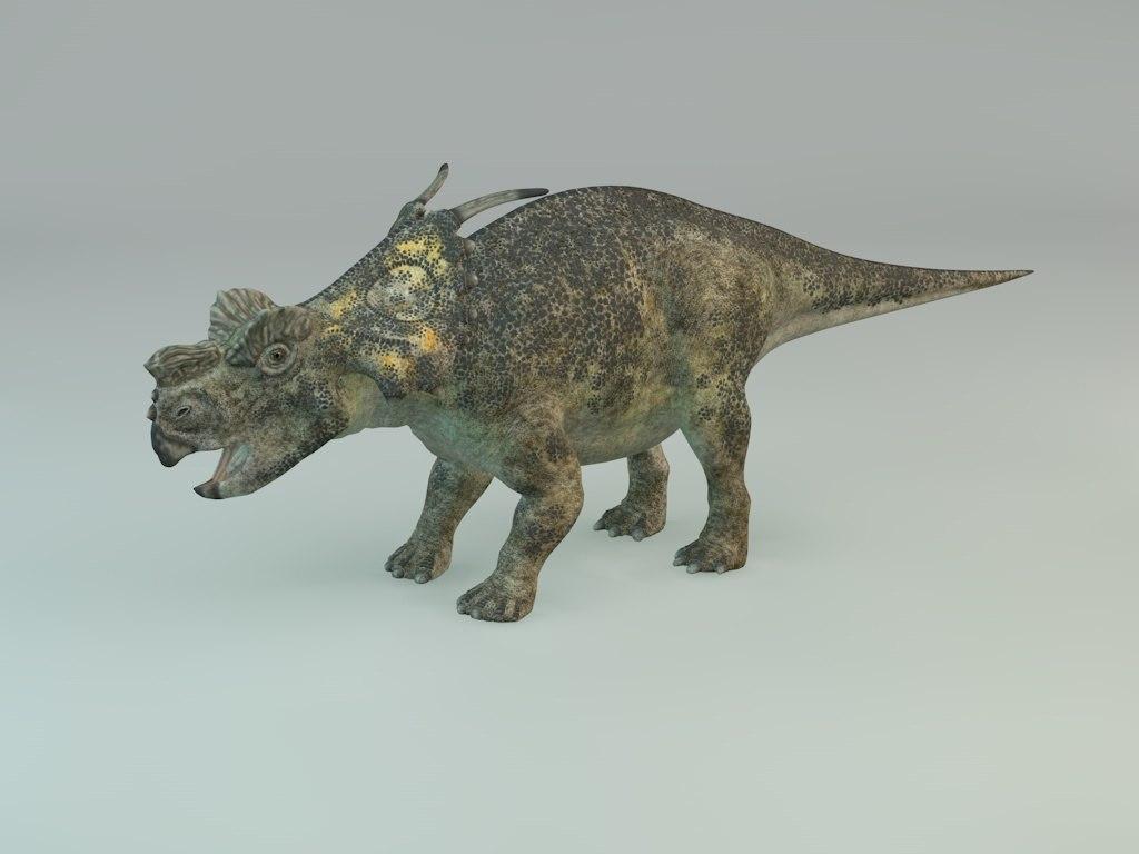 achelousaurus dinosaur 3D