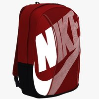 red black backbag bag 3D model