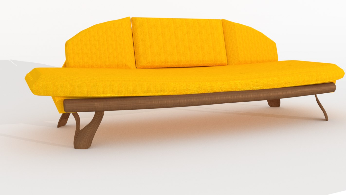 3D 50s couch