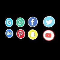 facebook logos 3D model