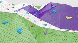 sport climbing wall 3D model