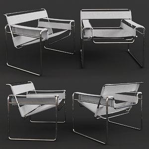 3D model knoll marcel breuer -