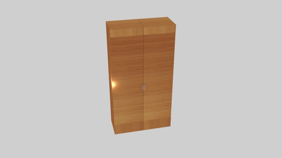 exhibit wood wardrobe model