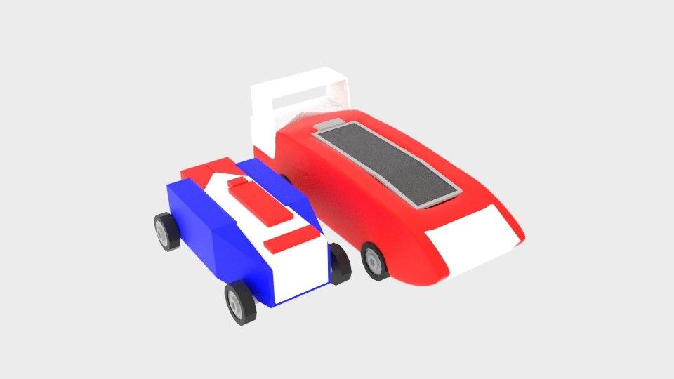 curve car toy 3D model
