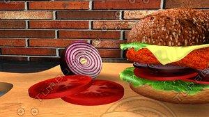 sandwich cheese 3D model