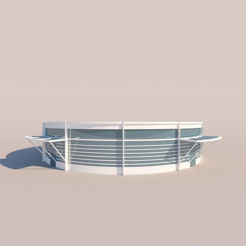 3D shop architecture modern model
