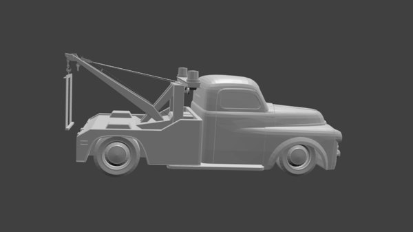 towtruck dodge 3D model