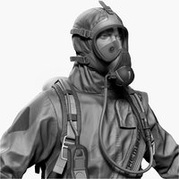 Hazmat Worker Level B Zbrush
