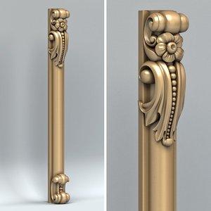 3D carved pillar model