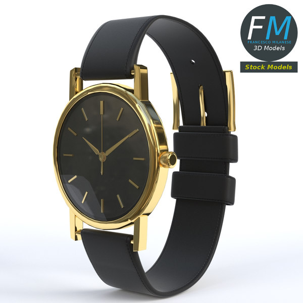 3D wrist watch leather watchstrap