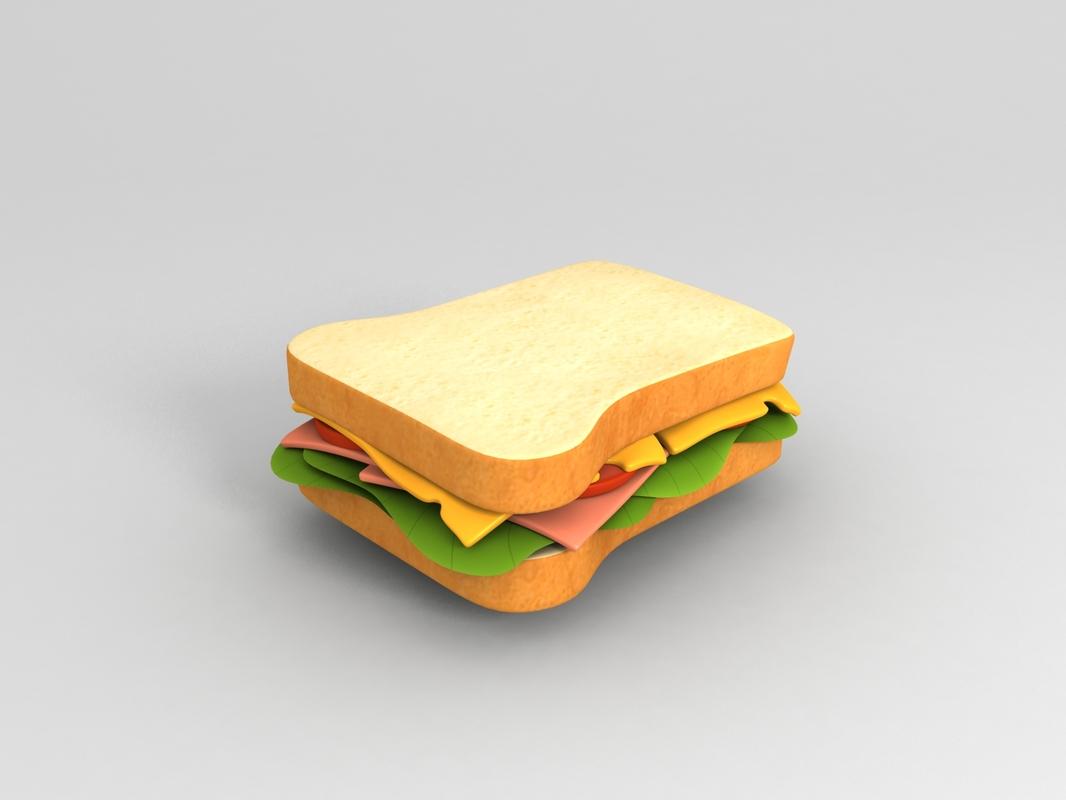 3D food sandwich