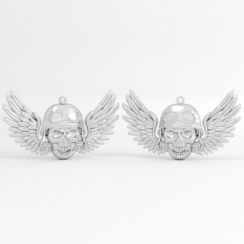 3D biker wings printable