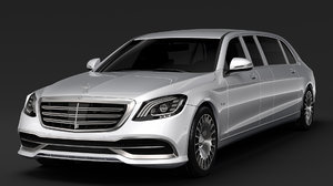 mercedes maybach s 650 3D model