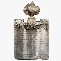 3D model old ornament decor inscription