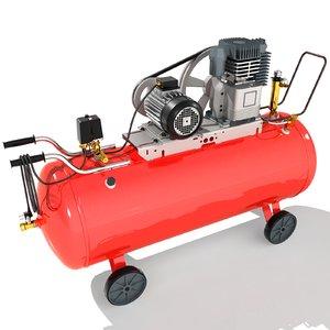 electric air compressor 3D model