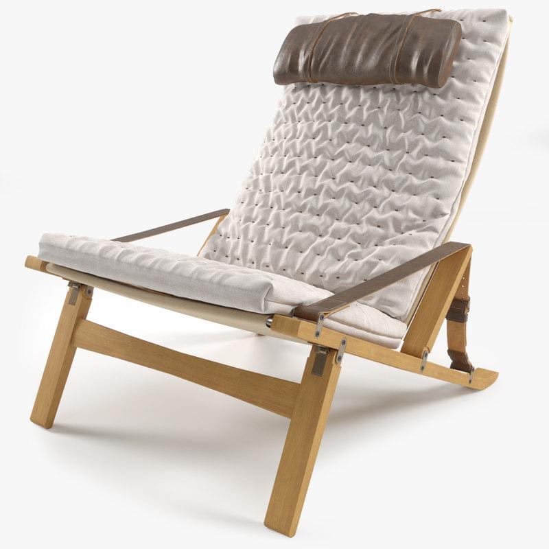 3D p b 10 lounge chair