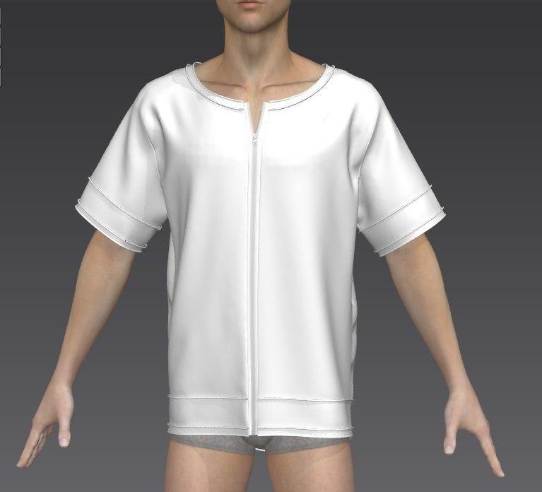 3D shirt zipper model