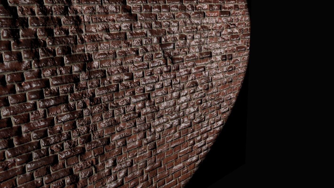 3D model realistic wall