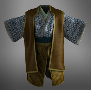 samurai kimono clothes 3D