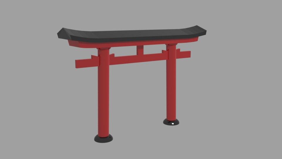 3D gateway daiwa torii
