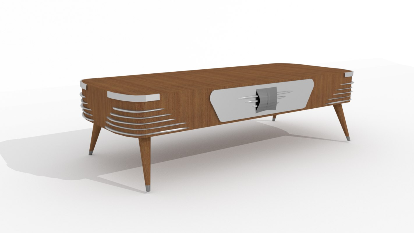 50s coffee table 3D