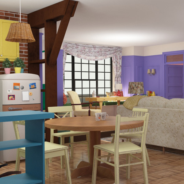 apartment vintage room kitchen 3D model