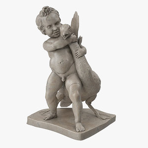 hellenistic statue boy strangling 3D model