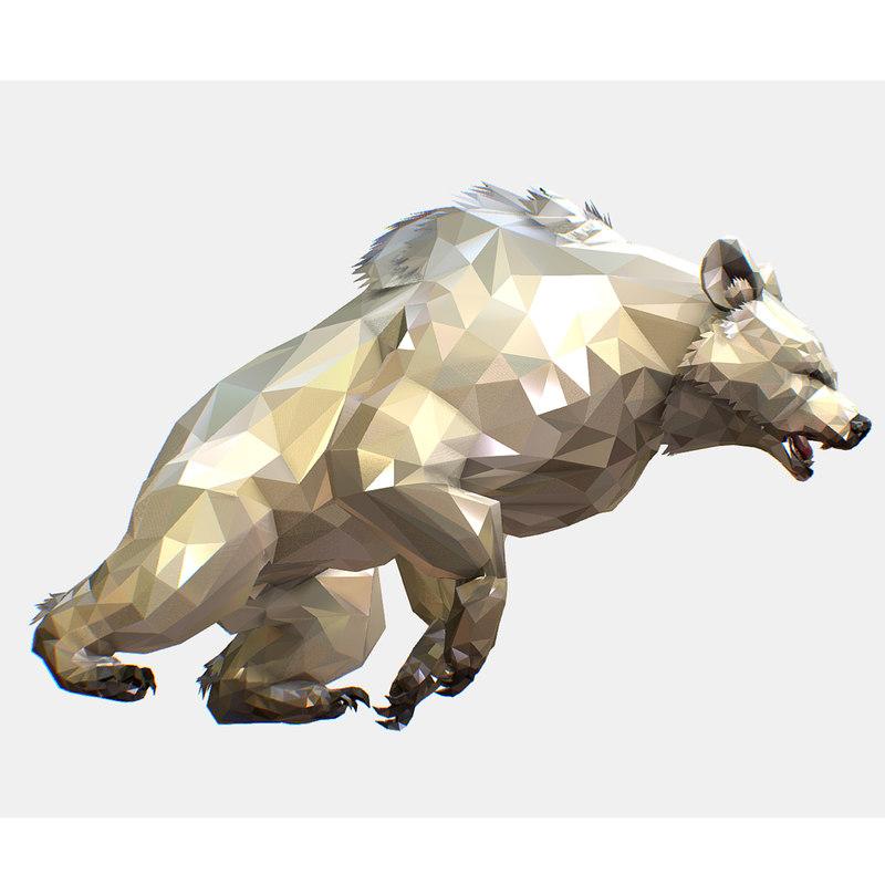 art white bear animation 3D