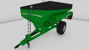 3D brent v800 grain cart