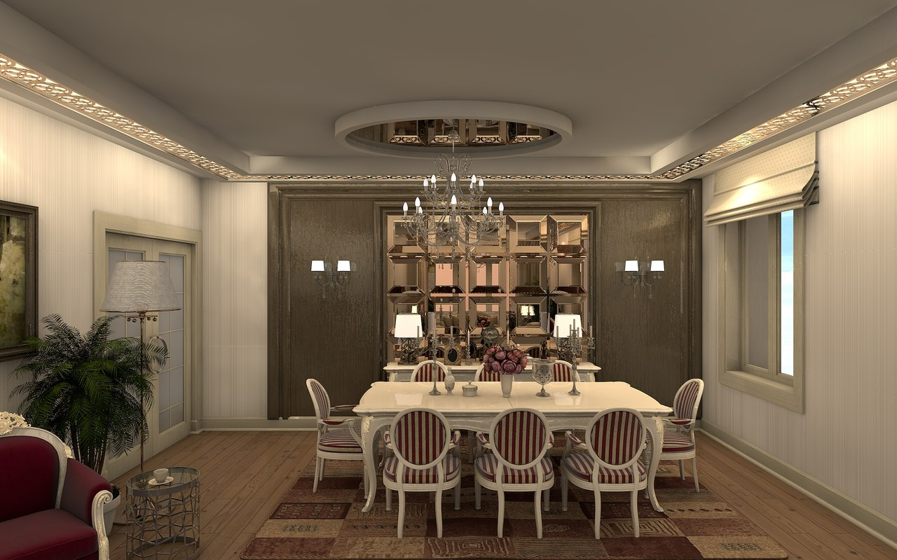 3D classical interior model
