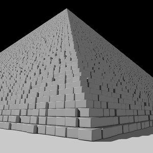 pyramid great giza 3D model
