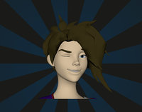 3D female ninja