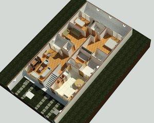 floor houses 3D