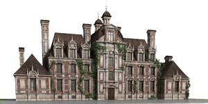 3D chateau house