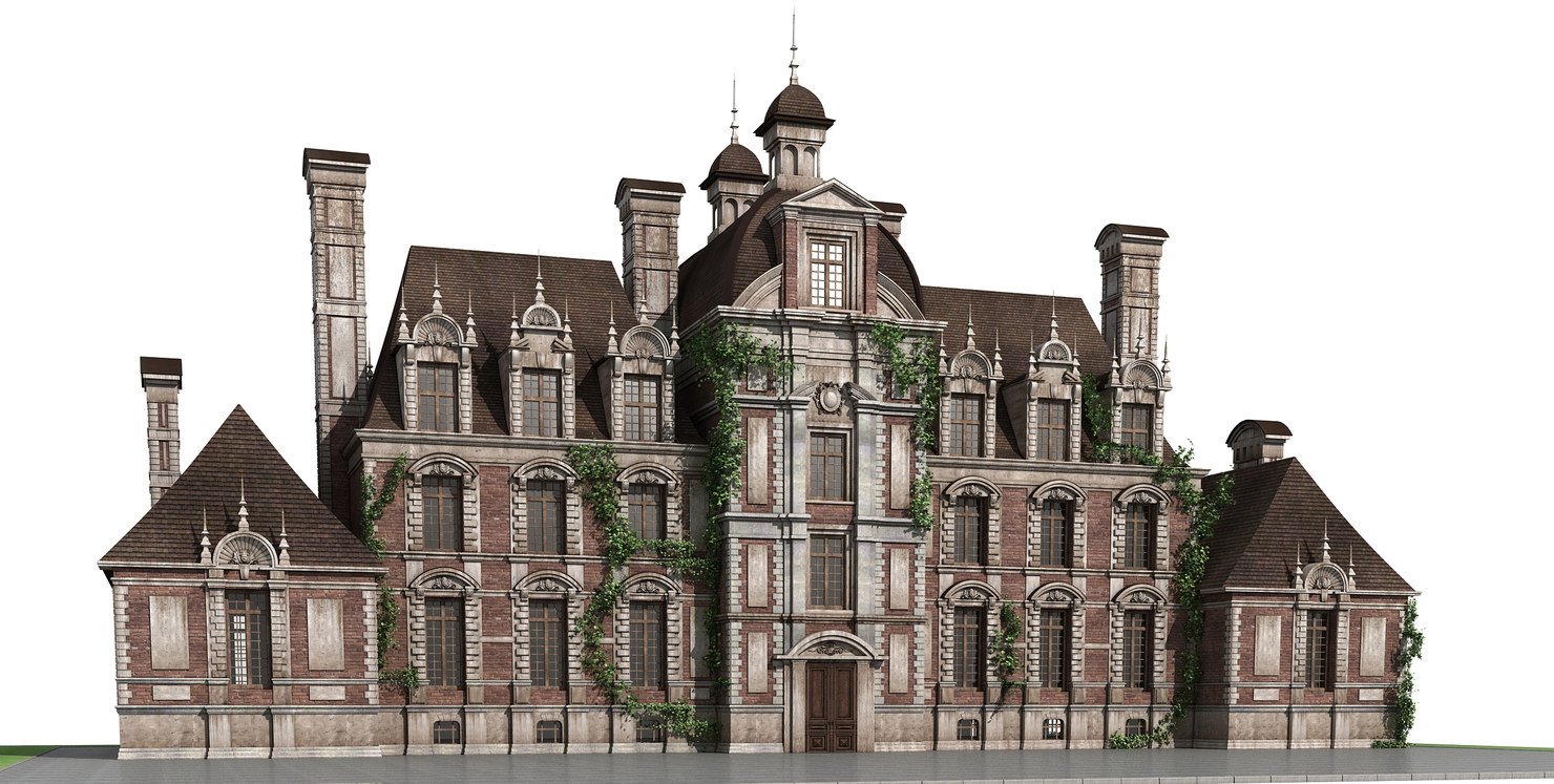 3D chateau house