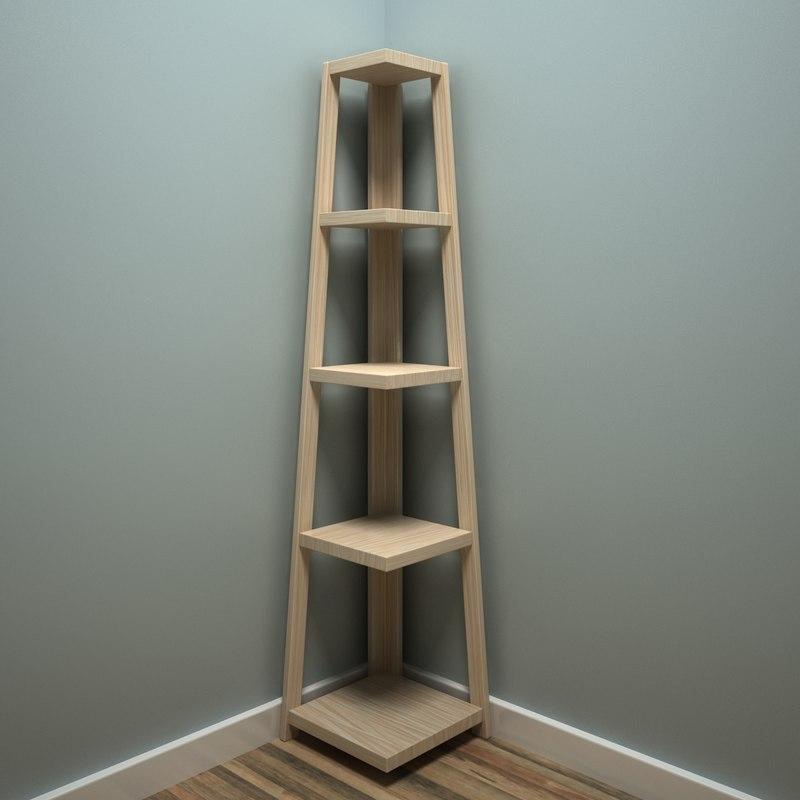 corner shelves designed model