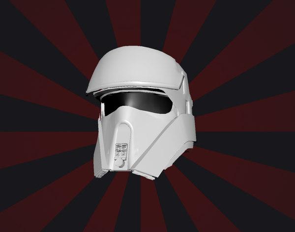 3D trooper helmet model