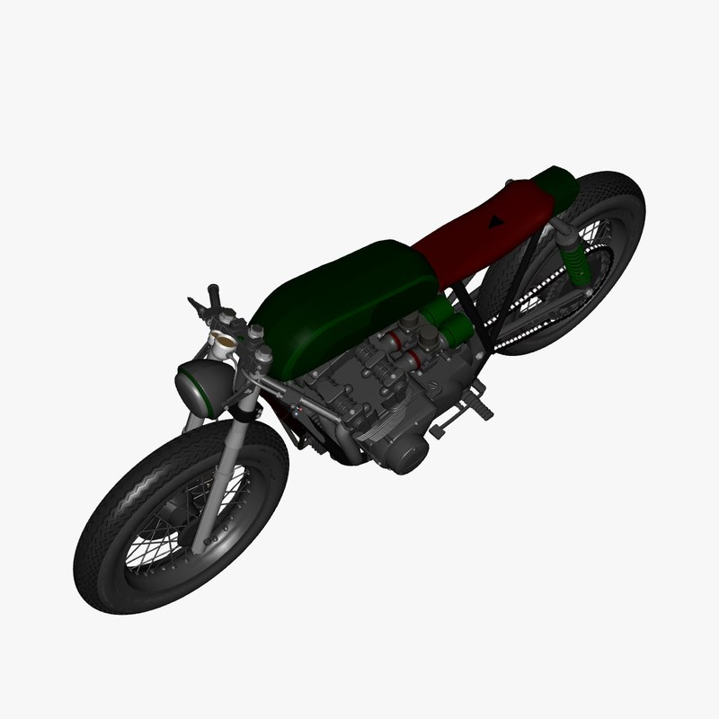 vehicles yamaha cafe racer 3D model
